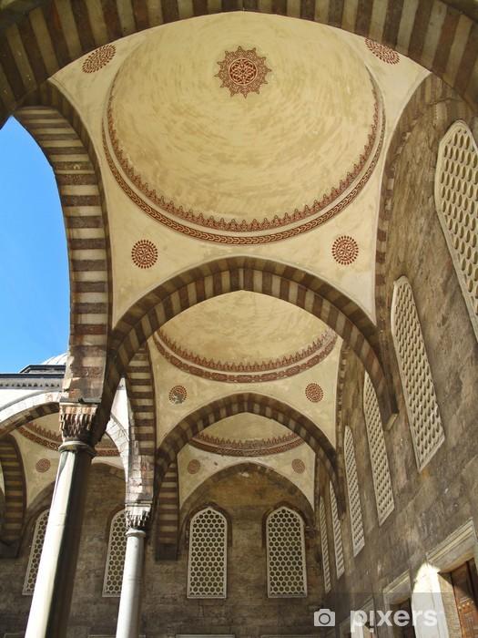 Pixerstick Sticker Arcade binnenplaats Blauwe Moskee - Midden Oosten