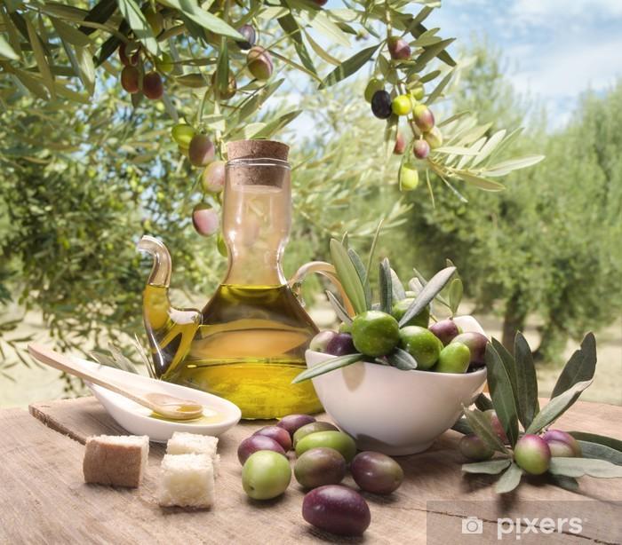 Papier peint vinyle Huile et d'olives - Olives