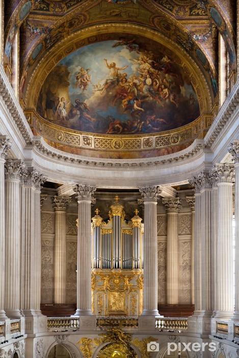 Papier peint vinyle Intérieur de Versailles avec un type sur une liste et colonnes. - Europe