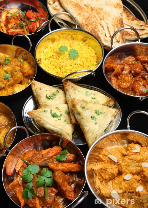 Fototapeta winylowa Indian Food Banquet - Mięso