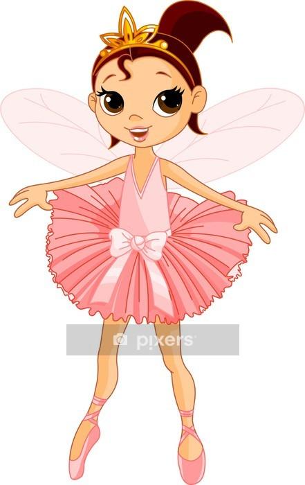 Cute fairy ballerina Wall Decal - Wall decals
