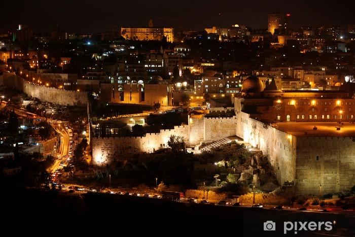 Pixerstick Dekor Classic Jerusalem - Natt i gamla staden, Tempelberget med Al-Aqsa - Criteo