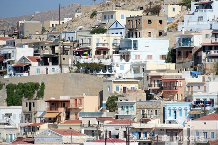 le case della città di Kalymnos, Grecia Vinyl Wall Mural - Europe