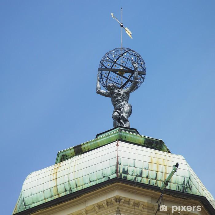 Naklejka Pixerstick Klementinum wieża szczegół, Old Town, Praga, Republika Czeska - Miasta europejskie