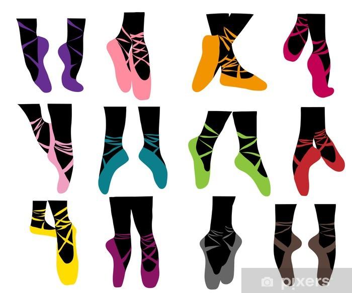 Sticker Pixerstick Collection de chaussons de danse - Sticker mural