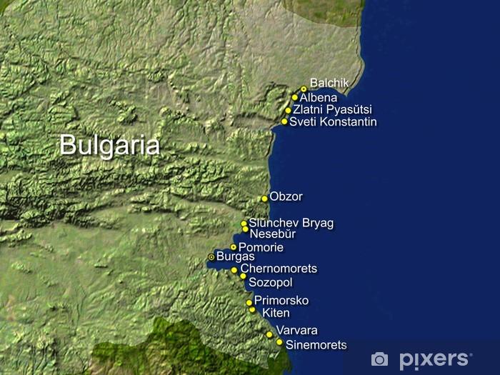 Karte Bulgarien.Fototapete Bulgarien Touristische Karte