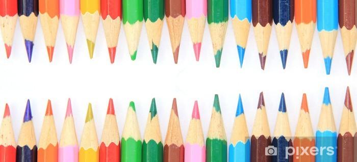 Nálepka Pixerstick Barevný Tužky pozadí - Jiné objekty