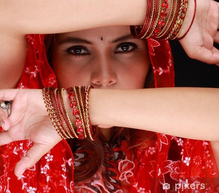 Fotomural Estándar Hermosa chica oriental con velo negro en la cara - Otras emociones