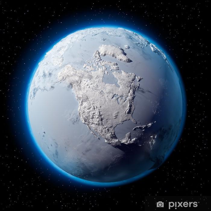 Nálepka Pixerstick Sníh Planeta Země - Meziplanetární prostor