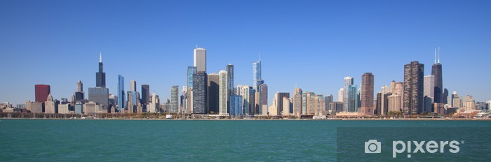 Naklejka Pixerstick Chicago panorama panoramiczny - Tematy