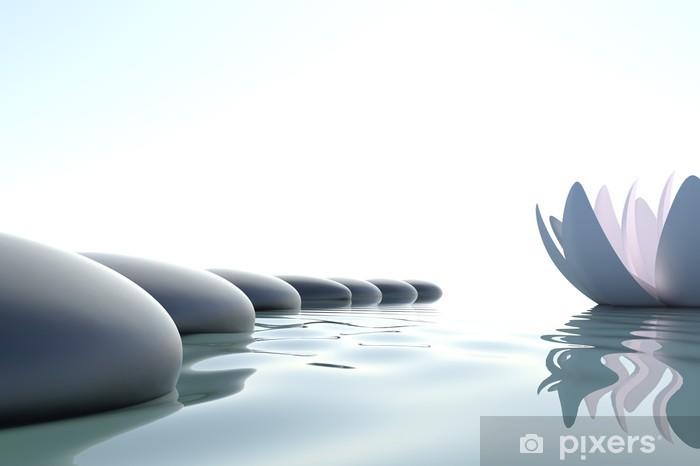 Zen flower loto near stone Vinyl Wall Mural - Styles