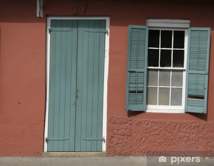Papier peint vinyle Portes et fenêtres quartier français la Nouvelle-Orléans - Vacances