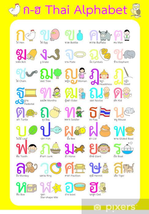 Fototapeta winylowa Tajski alfabet - vector kolor - Tematy