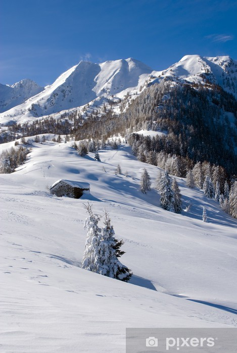 Naklejka Pixerstick Zimowy krajobraz - Zima