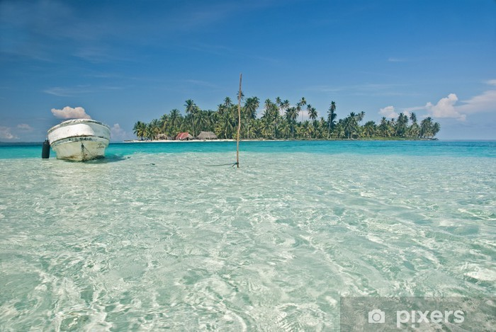 Pixerstick Aufkleber Isla Es Yala, San Blas, Panama. - Urlaub