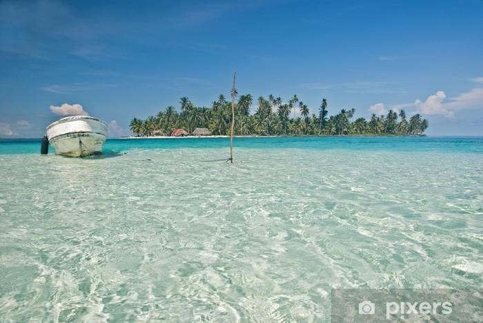 Isla, Kuna Yala, San Blas, Panama. Pixerstick Sticker - Holidays