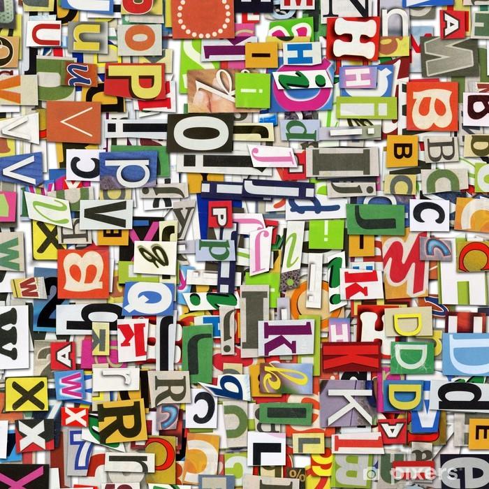 Digital collage Pixerstick Sticker - Alphabet