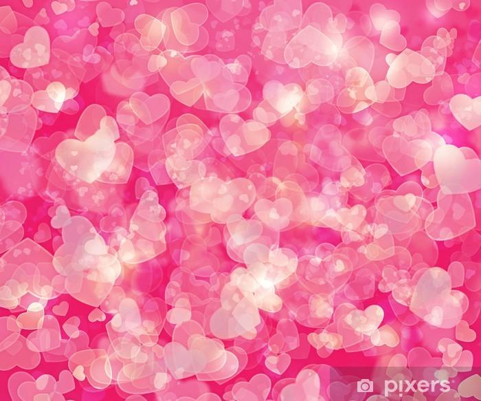 Naklejka Pixerstick Tło serca - Święta międzynarodowe