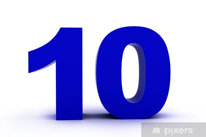 number 10 Sticker • Pixers® - We live to change