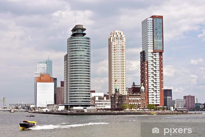 Vinyl-Fototapete Skyline von Rotterdam in den Niederlanden - Europa