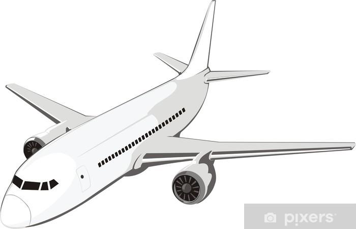 Sticker Pixerstick Air plane - Dans les airs