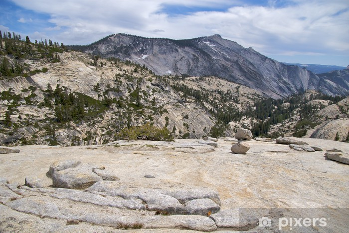 Fototapeta winylowa Granit krajobraz w Olmsted Point, Park Narodowy Yosemite - Ameryka