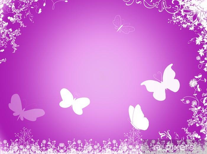 dcec1794d03f4 Fototapete Lila Schmetterling Hintergrund