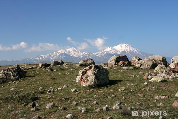 Fototapeta winylowa Wulkan Hasan na wiosnę - Turcja - Bliski Wschód