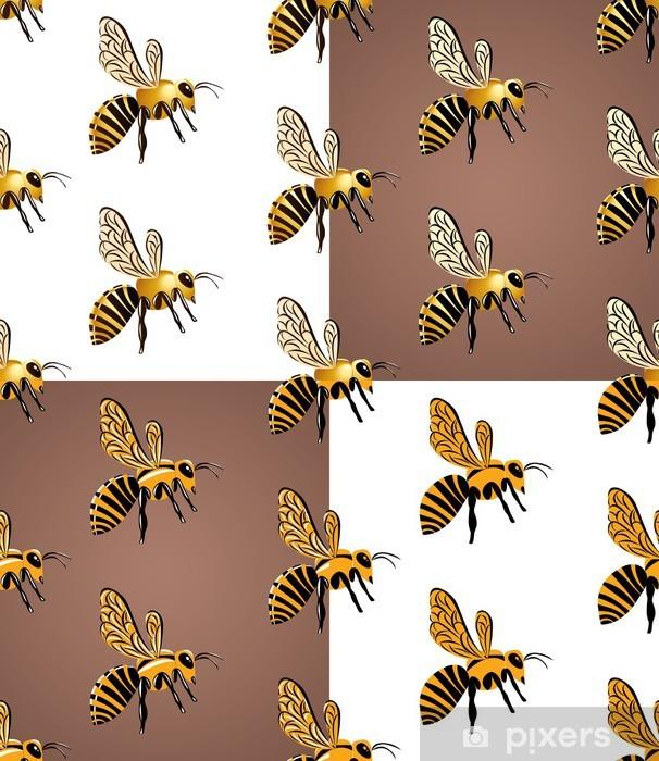 Sticker Pixerstick Пчелиный рой, бесшовный узор - Concepts