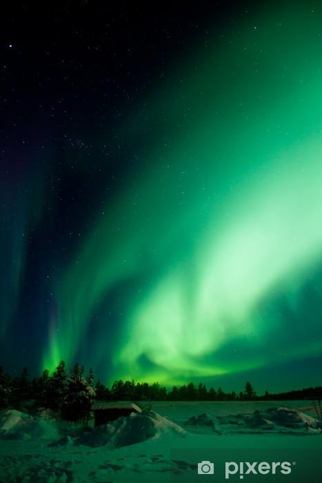 Vinyl Fotobehang Aurora Borealis (Noorderlicht) - Wonderen der Natuur