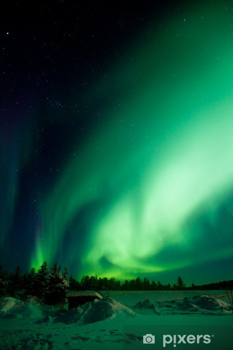Fotomural Estándar Aurora Borealis (Northern Lights) - Maravillas de la naturaleza