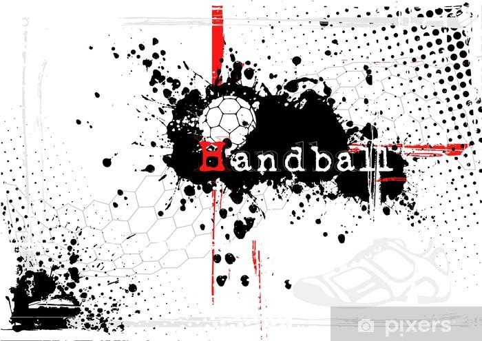 Bord- og skrivebordsklistremerke Skitten håndball bakgrunn - Lagidrett