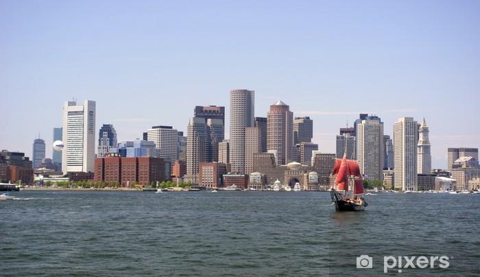 Papier peint vinyle Boston horizon, bateau à passagers, États-Unis - Amérique
