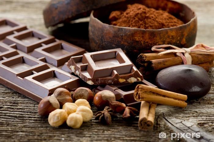chocolate with ingredients-cioccolato e ingredienti Pixerstick Sticker - Themes