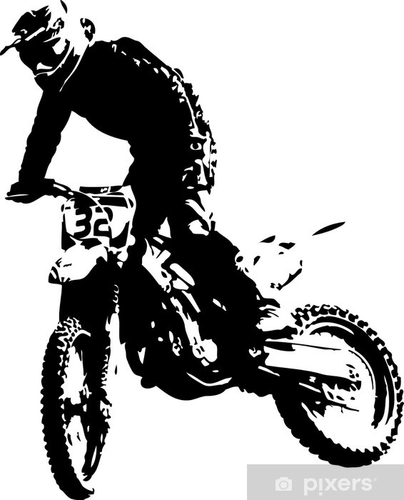 vector mx rider Vinyl Wall Mural - Extreme Sports