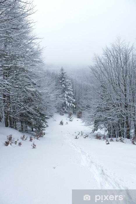 Sticker Pixerstick Neve in montagna - Forêt
