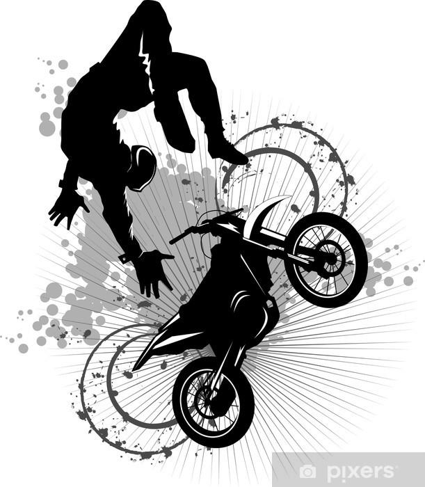 moto attraction Pixerstick Sticker - Extreme Sports
