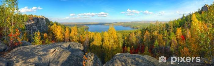 Papier peint vinyle Paysage d automne - Montagne