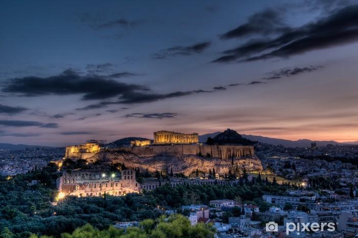 Fotomural Estándar Partenón y la Acrópolis de Atenas al amanecer - Temas