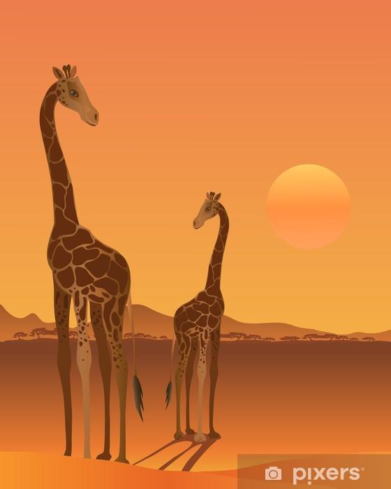 Nálepka Pixerstick Žirafa - Venkov