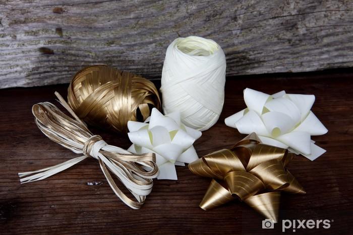 Naklejka Pixerstick Wstążki i kokardy na prezenty - Świętowanie
