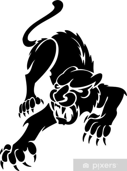 Papier peint vinyle Predators Puma.Tribal. - Mammifères