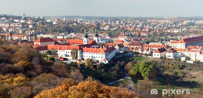 Papier peint vinyle Panorama de Prague - Villes européennes