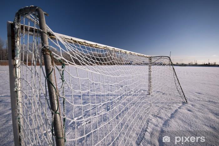 Vinyl-Fototapete Icy Fußballtor - Jahreszeiten