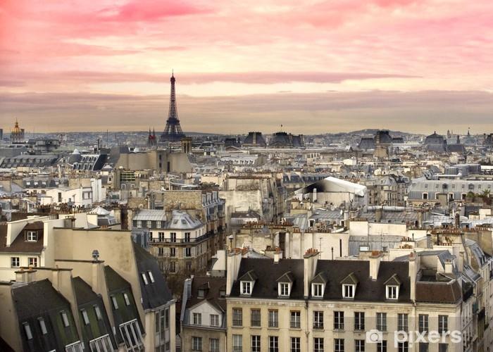 Papier peint vinyle Paris Tour Eiffel vue - Thèmes