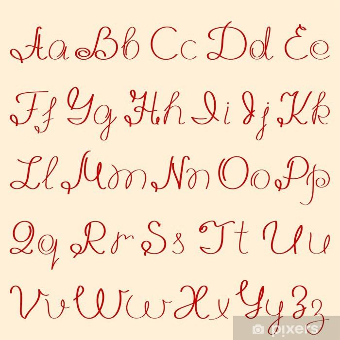 El Yazısı Alfabe çıkartması Pixerstick Pixers Haydi Dünyanızı
