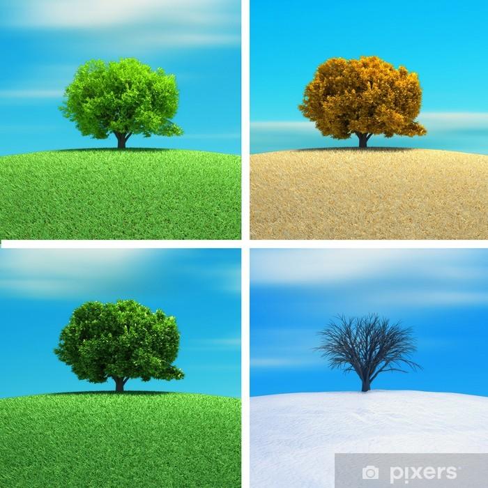 Poster Quatre saisons - Signes et symboles
