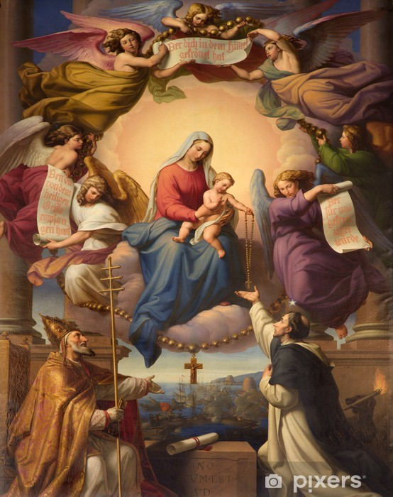 holy Mary and little Jesus from Vienna church Vinyl Wall Mural - Themes