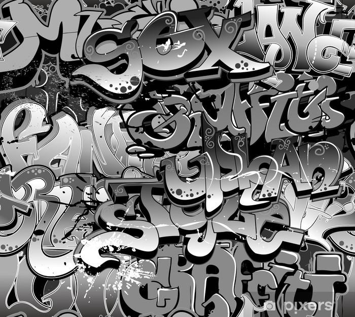 Sticker Pixerstick Graffiti seamless. Texture art urbain - Thèmes
