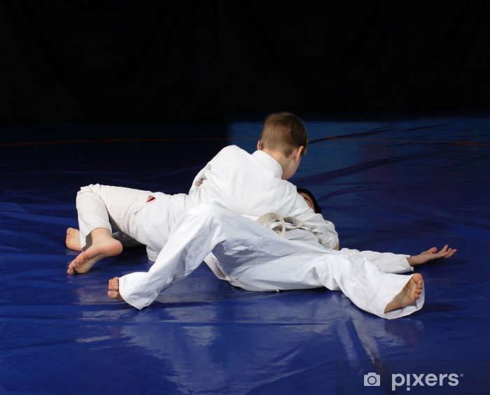 Vinilo Pixerstick Judo competencia combates - Adolescentes